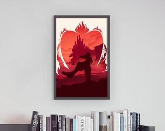Game of Thrones Melisandre Dragonstone Lord of Light Art Print Silhouette Poster 11 x 17