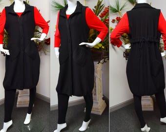 Sleeveless Long Vest, Sleeveless Duster , Designer Duster, Women Duster, Plus size duster, Plus size vest, long vest