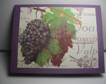 Wine Label Grapes 8-Card Box