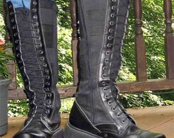 Vintage Goth Combat Motorcycle boots