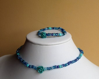 Girls necklace and bracelet set