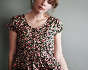1950's Holiday Dress / Vintage Dress / Retro Dress / New Vintage Dress / Handmade Vintage Dress / Shirt Dress  / Depression Era Dress