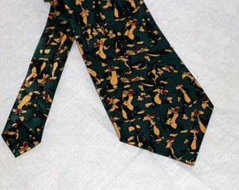 Vintage Rene Chagal Men's Tie - Sylvester - 100% Silk - Myung Ju Silk - Hand Made