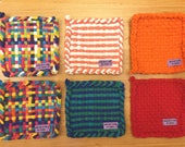 CHOOSE YOUR COLORS! One color, two-tone, or multi-colored Pot Holder
