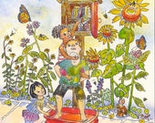 Little Free Library Greeting Card, by Michelle Kogan, Birthday Card, Thank You Card, Painting, Drawing & Illustration, Children's Art