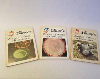 Disney's Wonderful World of Knowledge Children's 17 book set 1971
