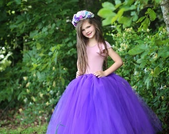 Full length Purple tutu skirt. Long tutu.