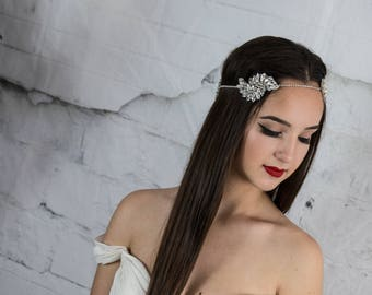 Bridal headband, Crystal headpiece, wedding headpiece, bridal halo, hair accessories, bridal hair jewelry, bridal hair piece, bohemian