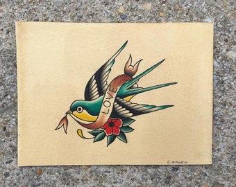 Love Sparrow Print