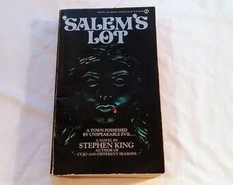 """Vintage 80's Horror Paperback, """"Salem's Lot"""" by Stephen King."""