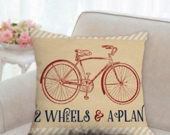 2 Wheels & A Plan Bike Pillow