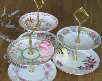 Rose Gold Cake Stand Etsy