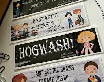 Fantastic Beasts Bookmark