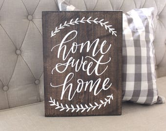 Home Sweet Home Sign, Rustic Home Decor, Farmhouse Home Decor, Wall Art, Housewarming Gift
