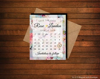 High Quality  > Personalized Save the Date Calendar Magnets > Envelopes Included > FREE SHIPPING