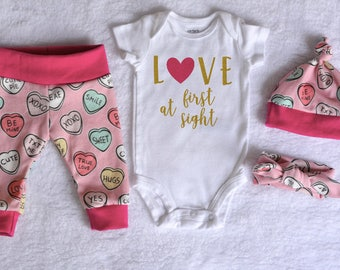 baby girl valentines day outfit newborn organic clothes girl coming home outfit valentine baby girl valentine - Infant Valentines Day Outfits