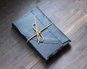 Navy Blue Leather Sketchbook with Bristol Paper
