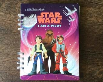 Star Wars Autograph Book - Star Wars Disneyland Autograph book - Star Wars Journal - Boys Autograph Book - Upcycled Little Golden Book Journ