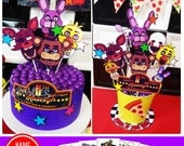 FNAF DIY Printable | Fnaf Cake Toppers | Fnaf Printable Centerpiece | Five Night's At Freddy's Decorations | Birthday | Epic Parties by REVO