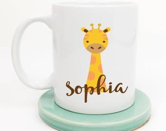 Giraffe Mug, Giraffe Lover Gifts, April the Giraffe, Baby Giraffe, Zoo Animals, Gift for Her, Gift for Him, Gift under 20, Gift for Mom
