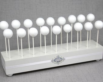 Pearl White Cake Pop Stand Wedding Holder