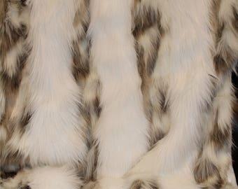 30x60 Tibetan Fox and Arctic White Fox mix Faux Fur Lap Throw