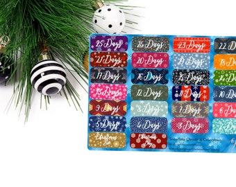 Christmas Planner Stickers / Snowflake Christmas Countdown / Planner Stickers / Erin Condren / Happy Planner / Traveler's Notebook / Agenda