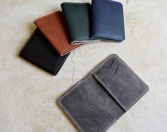 Mens Leather Wallet / Handmade Leather Wallet / Leather Bifold Wallet /Slim Bifold Wallet