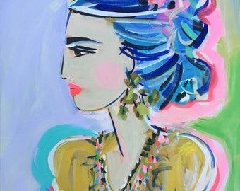 Frida Kahlo Print, Modern, 8 x 10, 11x14, 16x20, 24 x 30, 30 x 40