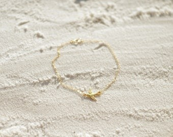 Bird Anklet, Available in Sterling Silver, Gold and Rose Gold
