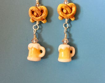 Peach Ale Oktoberfest Earrings