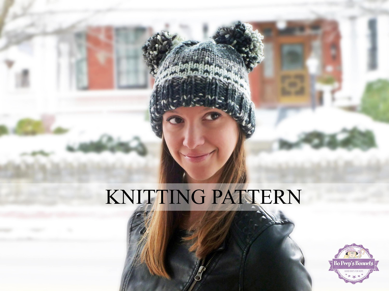 Knitting pattern animal ears hat knitted bear hat pattern zoom bankloansurffo Gallery