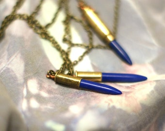 Crystal Bullet Casing Necklace
