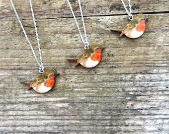 Robin necklace, Robin accessory, Robins, Christmas gifts, Christmas, Xmas, bird, Christmas presents,  Robin gifts, Robin bird