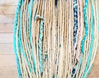 Dreadlock set of 60 Wool Dreads Accent Dreads READY TO SHIP  Double Ended Dreadlocks 24-30 inch installed length