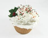Jumbo Christmas Cupcake Candle - Choose Your Topping