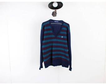 Vintage sweater/90s Sweater/Vintage Jumper/Vtg Jumper/Winter Sweatshirt/Wool Sweater/Pullover/Vintage Knit/Warm Sweater/ D32 Men Size L