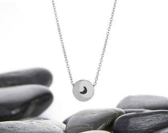 Moon Necklace, Crescent Moon, Gift For Her, Necklace, Moon Pendant, Sterling Silver, Layering Necklace, Silver Moon, Silver Moon Necklace
