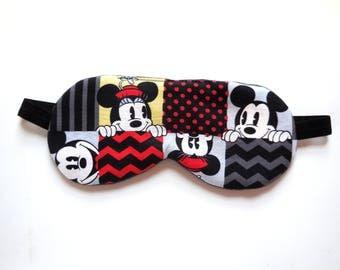 Adjustable Sleep Mask, Disney Eye Shade, Mickey Mouse Eyemask Minnie Sleepmask, Cotton Flannel Satin, Night Cover, Woman Teen Kids Toddler