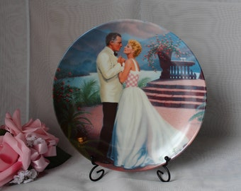 """1987 Knowles Collectors Plate Rodgers Hammerstein Some Enchanted Evening South Pacific 8.5"""" dia"""