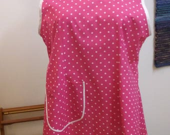 Retro, 1940s, new apron with full coverage made from an updated vintage pattern.