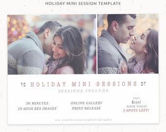 Holiday Mini Session Marketing, Templates for Photographers, Holiday Cards, Holiday Mini Template, Marketing Boards for Photography, cr002