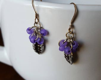 Purple Passion Earrings/Silver Plated Earwires