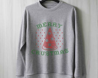 Merry Crustmas Sweatshirt Funny Christmas Sweater Ugly Christmas Sweater Jumper Pullover Shirtt