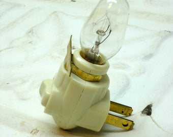 Stained Glass Nightlight Kit Base & Bulb Ivory Color DIY