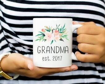 Grandma Mug, New Grandma Gift Established 2017