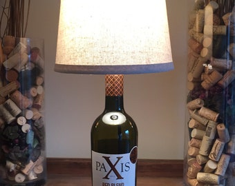 Paxis Red Blend, Wine Bottle Lamp (750ml Bottle)