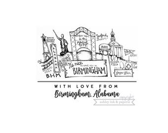 Notecard ~ With love from Birmingham, Alabama