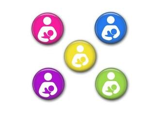 Breastfeeding Magnet - Lactivism Magnet - Breastmilk Magnet - Breastfeeding Buttons - Breastfeeding Pins - Breastmilk Magnets