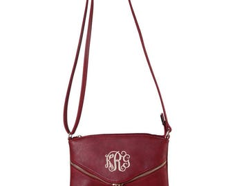 Monogrammed Purse with Tassel | Personalized Handbag | Personalized Tassel Purse | Personalized Crossbody | Multiple Colors
